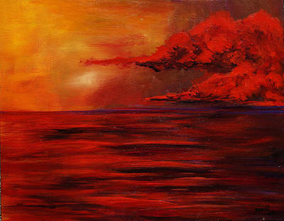 Painting - Red Sea At Dusk by Mary Jo Zorad