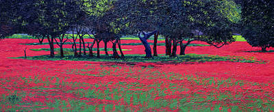 Poppies Field Painting - Red Shock by Trevor Neal