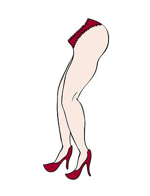 Red Shoes Print by Frank Tschakert