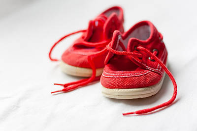 Y120831 Photograph - Red Shoes by I like to capture special and ordinary moments.