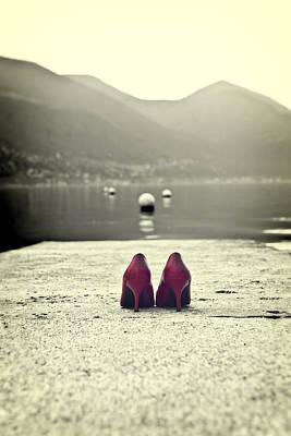 Buoys Photograph - Red Shoes by Joana Kruse