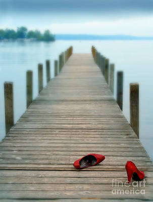 Photograph - Red Shoes On Dock by Jill Battaglia