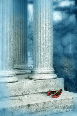 Photograph - Red Shoes On Steps by Jill Battaglia