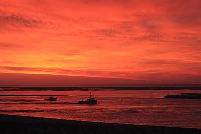 'red Skies At Morning Sailors Take Warning' Art Print by John Burk