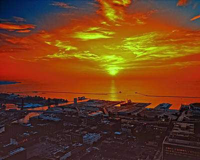 Photograph - Red Sky At Night A Sailors Delight by Richard Kopchock