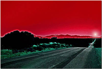Red Sky At Night Art Print by Chet King
