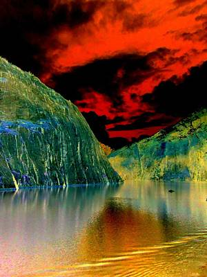 Alaskan Cruise Photograph - Red Sky Fjord by Randall Weidner