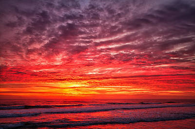 Red Sky In The Morning Art Print by Steven Wilson