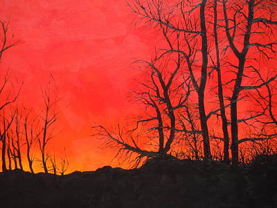 Painting - Red Sky  by Dan Whittemore