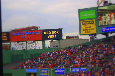 Red Sox Win Art Print by Greg DeBeck