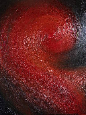 Red Spiral Art Print by Cahl Schroedl