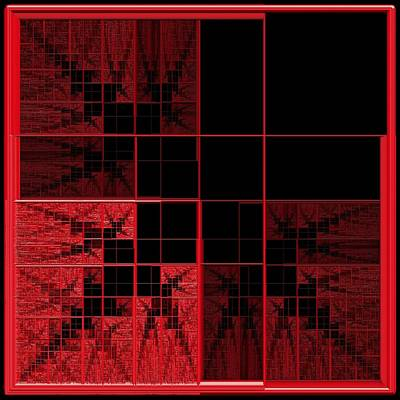 Red Squares 2 Art Print by Gt