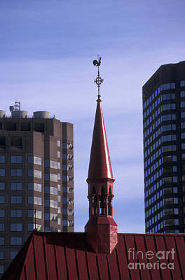 Photograph - Red Steeple Montreal Quebec by John  Mitchell