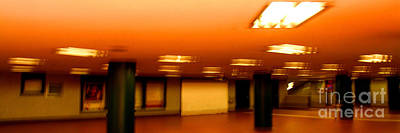 Art Print featuring the photograph Red Subway by Andy Prendy