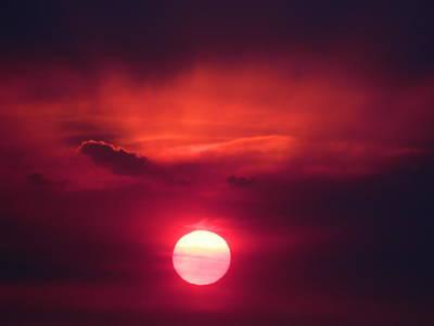 Digital Art - Red Sunset by Kaysie Yeates