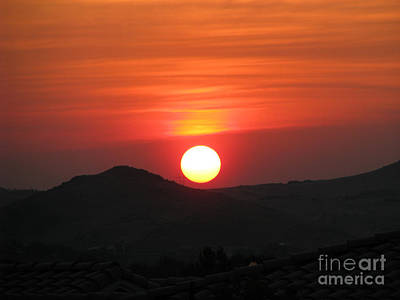 Photograph - Red Sunset by Phyllis Kaltenbach