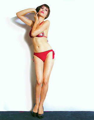Photograph - Red Swim Suit by Joel Gilgoff