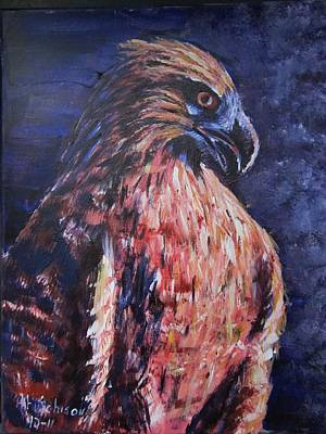 Painting - Red Tailed Hawk by Don Hutchison