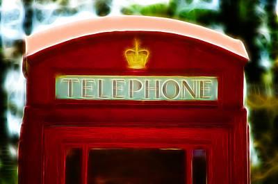 Red Telephone Box Art Print by Chris Thaxter