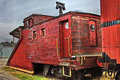 Photograph - Red Train Plow by Joann Vitali