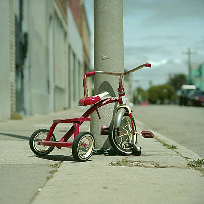 Red Tricycle Art Print by Eyetwist / Kevin Balluff