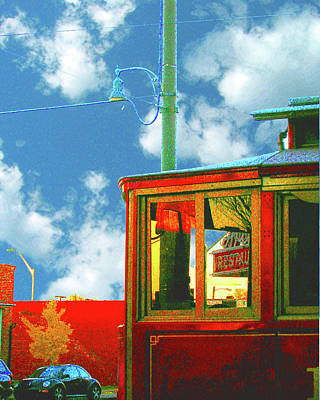 Digital Art - Red Trolley by Lizi Beard-Ward