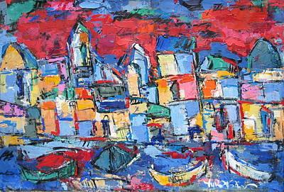 Red Venice Art Print