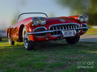 Red Chev Photograph - Red Vette by Larry Simanzik