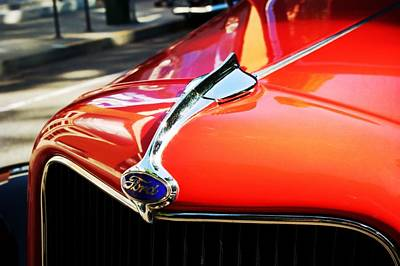 Pdx Art Museum Photograph - Red Vintage Ford  by Cathie Tyler