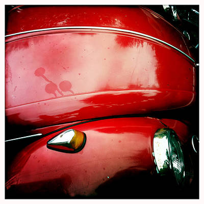 Photograph - Red Vw Beetle by Betse Ellis