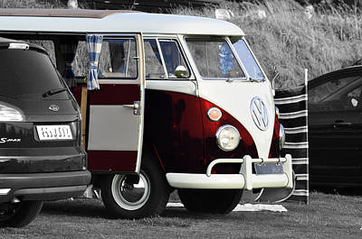 Red Vw Camper Art Print by Paul Howarth