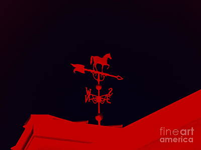 Photograph - Red Weather Vane by Renee Trenholm