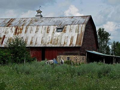 Photograph - Red Weathered Barn by Ms Judi