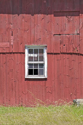Photograph - Red Weathered Farm Barn Of New Jersey by David Letts