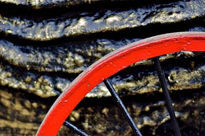 Manila Photograph - Red Wheel by Arj Munoz