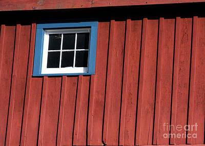 Red White And Blue Window Art Print by Sabrina L Ryan