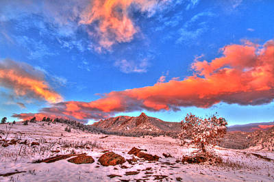 Cu Boulder Photograph - Red White And Blue Winter by Scott Mahon