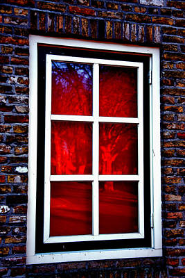Red Window Holland Art Print