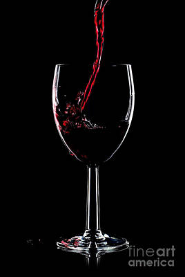Red Wine Splash Art Print