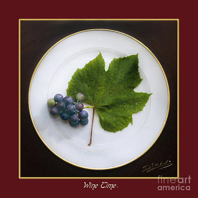 Purple Grapes Digital Art - Red Wine Time by Arte Dika By Jose Sanchez Martinez