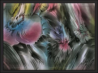 Pastel - Redbluepetalscape 2010  by Glenn Bautista