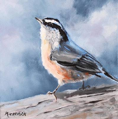 Painting - Redbreasted Nuthatch by Debra Mickelson
