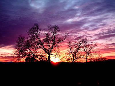 Redding Sunset Art Print