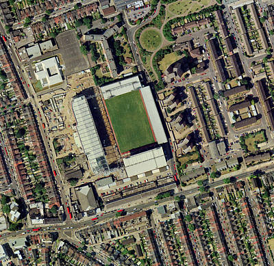 Upton Photograph - Redeveloping West Ham's Stadium by Getmapping Plc