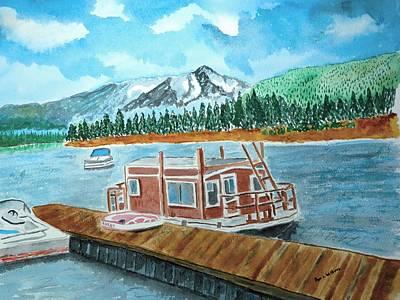 Redfish Lake Art Print by Don L Williams