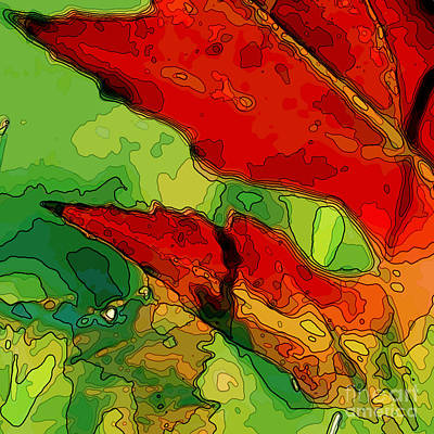 Digital Art - Redoakleaf Two by Herb Paynter