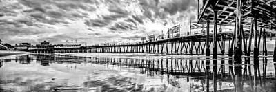 Nature Photograph - Redondo Beach Pier Panoramic by Josh Whalen