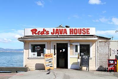 Reds Java House At San Francisco Embarcadero . 7d7709 Print by Wingsdomain Art and Photography
