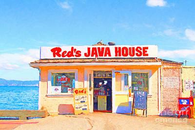 Photograph - Reds Java House At San Francisco Embarcadero by Wingsdomain Art and Photography