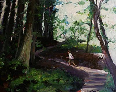 Redwood Forest Study Art Print by Emily Jones